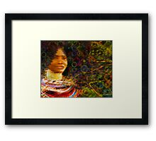 Beautiful African Woman Framed Print