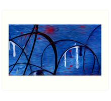 Abstract Colors Oil Painting #43 Art Print