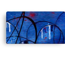 Abstract Colors Oil Painting #43 Canvas Print