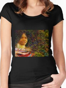 Beautiful African Woman Women's Fitted Scoop T-Shirt