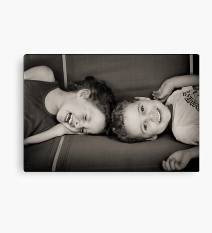 Sibling Revelry : ) Canvas Print