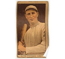 Benjamin K Edwards Collection Red Kuhn Chicago White Sox baseball card portrait Poster