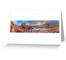 Pinnacles Panorama Greeting Card