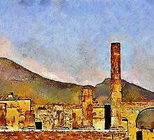 Ruins of Pompeii & Vesuvius, Italy by buttonpresser