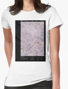 USGS Topo Map Washington State WA Cyclone Creek 20110428 TM Inverted Womens Fitted T-Shirt