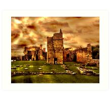 Warkworth castle ruins, Northumberland Art Print