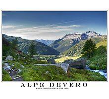 alpe devero hdr Photographic Print