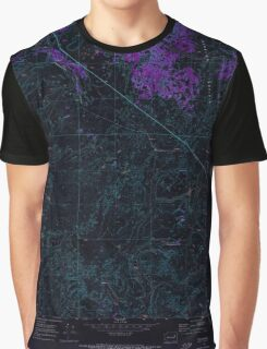 USGS Topo Map Washington State WA Telford 244223 1969 24000 Inverted Graphic T-Shirt