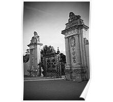 Lion Gate, Hampton Court Black and White Poster