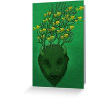 Sea Buffalo Dreaming Green Heart  Greeting Card