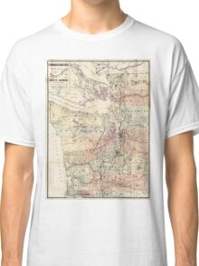 Vintage Map of The Puget Sound (1891) Classic T-Shirt