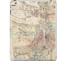 Vintage Map of The Puget Sound (1891) iPad Case/Skin