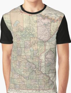 Vintage Map of Minnesota (1891) Graphic T-Shirt