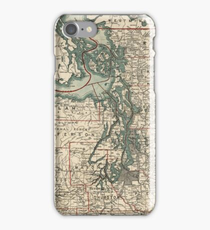 Vintage Map of The Puget Sound (1910) iPhone Case/Skin
