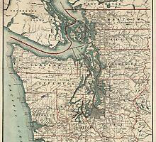Vintage Map of The Puget Sound (1910) by BravuraMedia