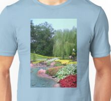 Lovely Garden with a Pond in Orlando Florida Unisex T-Shirt