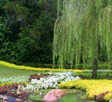 Lovely Garden with a Pond in Orlando Florida Sticker