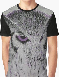 Violet Owl Graphic T-Shirt
