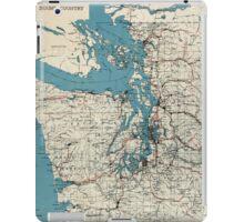 Vintage Map of The Puget Sound (1919) iPad Case/Skin