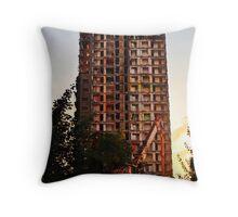 Tower Block Throw Pillow