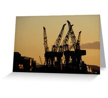 Clyde Cranes Greeting Card