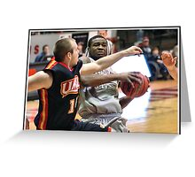 UIndy vs Missouri-St. Louis Mens 5 Greeting Card