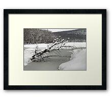 Silver Mine Lake In Winter Framed Print