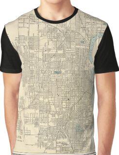 Vintage Map of Omaha Nebraska (1901) Graphic T-Shirt