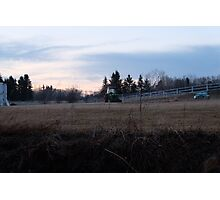 Tractor in a field Photographic Print