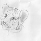 Tiger Cub Sketch by BizarreBeff
