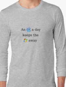 Apple Vs. Windows Long Sleeve T-Shirt