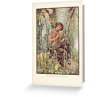 Pan and his flute Greeting Card