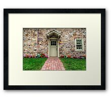 Exterior of a Beautiful Stone Cottage Framed Print