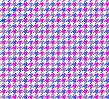 Pink, Purple, and Blue Houndstooth V1 by AstralKepeire