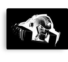 Angry Robot White Canvas Print