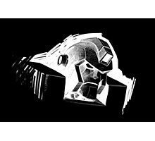 Angry Robot White Photographic Print
