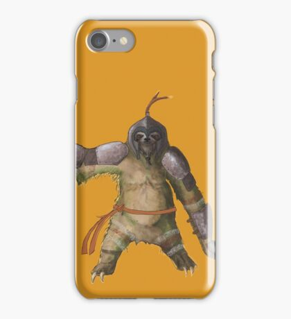 Battle sloth iPhone Case/Skin