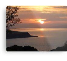 Winter Sunset On Inch Island Metal Print