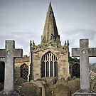 The Parish Church of St Peter at Hope, Derbyshire, England. by Tigersoul