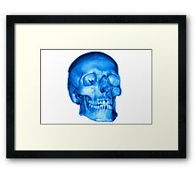 Blue Skull Framed Print