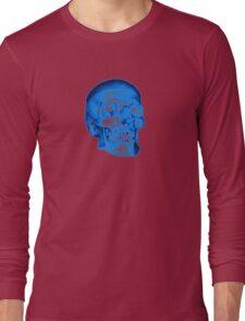 Blue Skull Long Sleeve T-Shirt