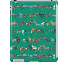 peacock green spice deer iPad Case/Skin