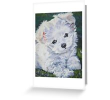 Maltese Fine Art Painting Greeting Card