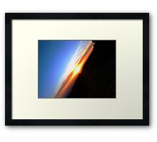 Path to the sun Framed Print