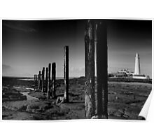 St Mary's Lighthouse B&W Poster