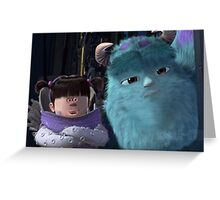 Face swap Monsters Inc Greeting Card