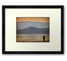 Sharing a sunset Framed Print