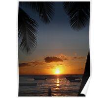 Barbados sunset3 Poster