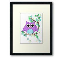 A D Pi owl Framed Print