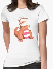 Ice Cream Dinosaur Womens Fitted T-Shirt